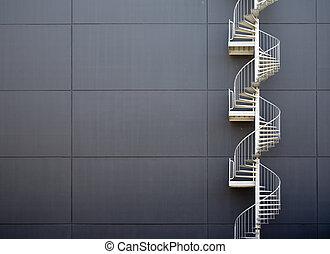 escadas, emergência