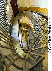 escadas, espiral