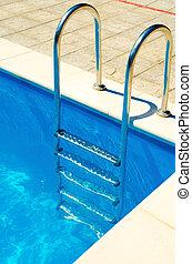 escadas, piscina