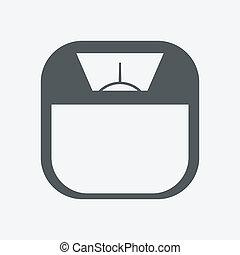 escala, ícone