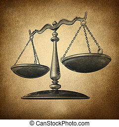 escala de la justicia, grunge