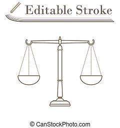escala de la justicia, icono