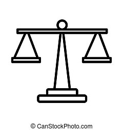 escala, estilo, balance, línea, icono
