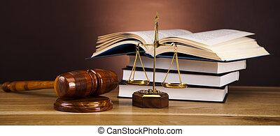 escala justiça, e, gavel