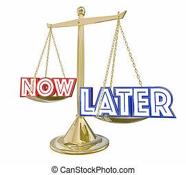 escala, later, retrasado, ilustración, ahorros, satisfacción, balance, inversión, 3d