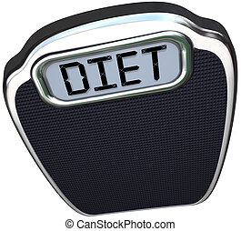 escala, palabra, peso, menos, dieta, perder, comer