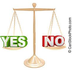 escala, pesando, não, vs, palavras, resposta, sim, opções