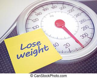 escala, peso, perder
