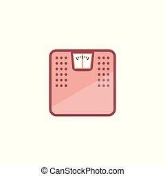 escala peso, vetorial, ilustração