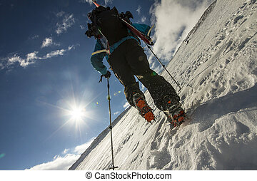 escalade, freerider, montagne