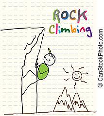 escalade, rocher
