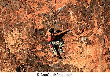 escalador pedra, penhasco