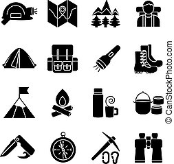 escalar montanha, jogo, ícone