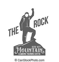 escalar montanha, logotipos, vindima