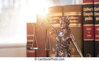 escalas justiça, símbolo, legal, lei, conceito, imagem