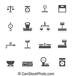 escalas, peso, icono