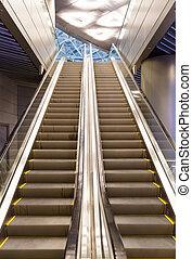 escalator at the airport