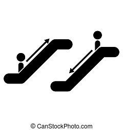 Escalator black icon .