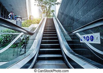 Escalator China Guangzhou streets