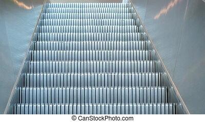 Escalator, close-up
