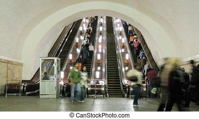 escalator, défaillance, métro, temps