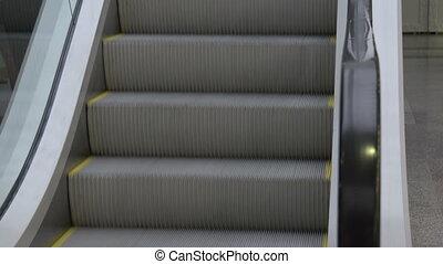 Escalator - escalator in modern office building