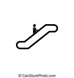 escalator, icône