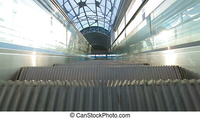 Escalator in action