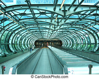 escalator in an airport