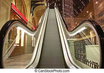 escalator in shop