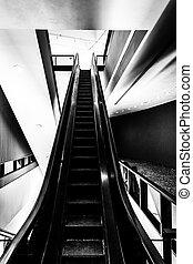 Escalator in the Hirshhorn Museum, Washington, DC.