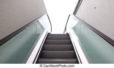 Escalator is rising and new prospect over the stadium -...