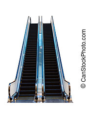 Escalator isolated on a white background