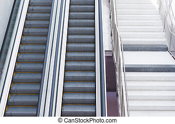 escalator ladder in the building