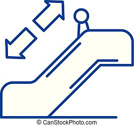 Escalator line icon concept. Escalator flat vector symbol, sign, outline illustration.