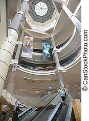 escalator, magasin