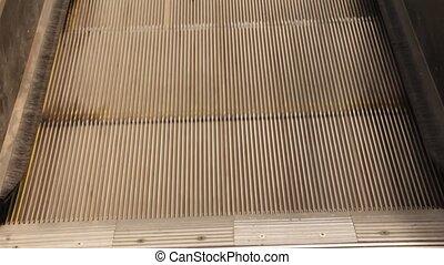 Escalator moving down