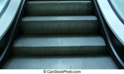Escalator - moving escalator steps down