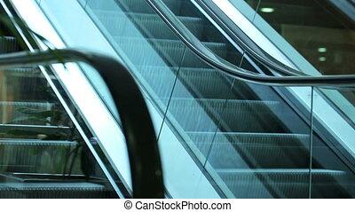 Escalator - moving escalator steps