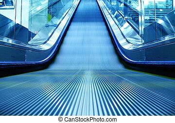 escalator of the subway station