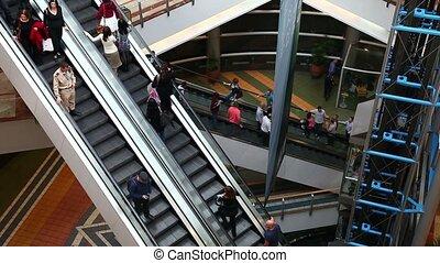 Escalator - Shopping mall escalator