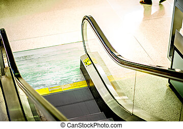 escalator stairs at the airport