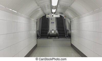 Empty Escalator for Metro Underground London