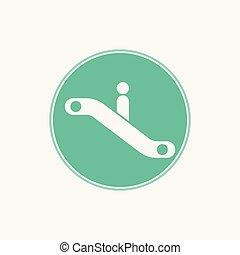 escalator vector icon sign symbol
