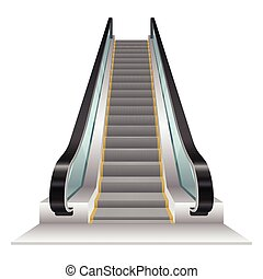 Escalator vector illustration isolated on white background