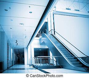 Escalators and corridors