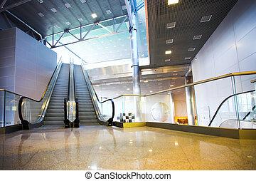 Escalators in exhibition