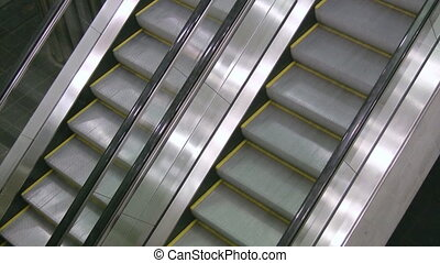 Escalators. Two shots.