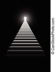 escalera, a, éxito