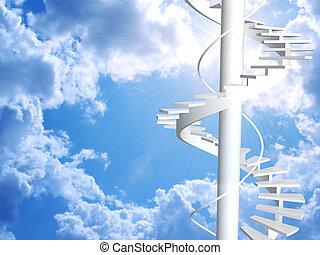 escalera, a, paraíso